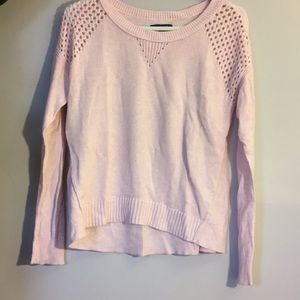 Pink American eagle sweater with shoulder detail